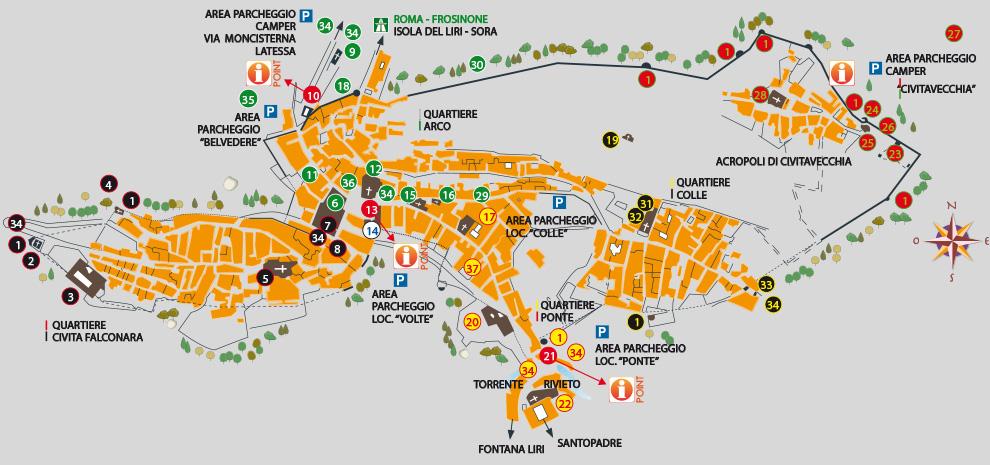Cartina Italia Civitavecchia.La Mappa